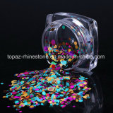 a-Nail 1 Set Colorful Ultrathin Nail Sequins Tips Mixed Nail Glitter Paillette 12 Colors DIY Manicure Nail Art Decorations (ND-17)
