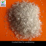 Crushed Glass Chips for Abrasive Blasting