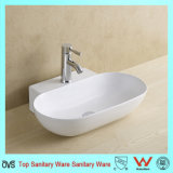 China Manufacture Oval Wash Basin Set with Hole