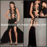 Black Lace Nude Sheer Party Cocktail Evening Dress E5270