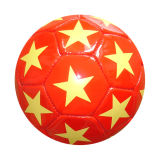 Cheap Colorful Promotional PVC Leather Machine-Sewn Soccerball