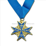 Zinc Alloy Gold Medal with Soft Cloisonne