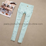 Women's /Lady's Fashion Zipper Skinny Jeans