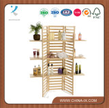 Customized 3 Tiers Folding Panel Wooden Retail Shelving Unit