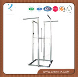 Customized Chrome 4 Way Rolling Clothes Stand Straight Arm