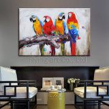 Colorful Abstract Oil Painting for Birds
