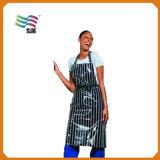 Custom Practical Sky Blue Kitchen Apron with a Big Poket
