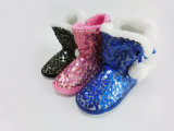 Sequins Nice Warm Winter Snow Boots for Girls