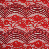 Bi-Color Sector & Flower Design Allover Wrap Knitting Lace by The Yard