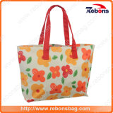 Lady Girl Lovely Customized Fashion Handbag with Flower Printing
