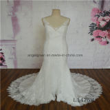 V Neck Mermaid Sleeveless New Design Lace Wedding Dress