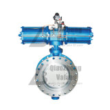 Pneumatic Flanged Multi-Layer Metal Seated Seal Triple Offset Three-Eccentric Butterfly Valve D643hyf