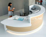 Wood Based Corian Top Semi Circle Reception Counter