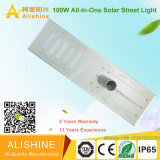 Solar Power 100W Integrated Solar Street Light for Highway/Freeway Install on 10meters Pole