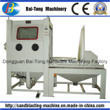 Manual Sandblasting Cabinet with Manual Trolley and Turntable for Mould
