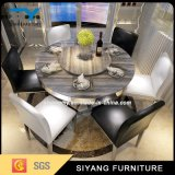 Home Furniture Flexible Metal Marble Top Dining Table