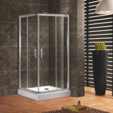 6mm Tempered Glass Suqare Double Sliding Door Shower Enclosure