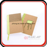 Sewn & Glue Bound Kraft Paper Notebook with Die Cut Cover
