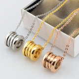 Fashion Stainless Steel Spring Pendant Necklace Jewelry