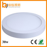 Aluminum Housing Energy Saving 30W 400mm SMD2835 Surface Mounted Round LED Panel Light