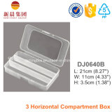 3 Parallel Compartment Plastic Box
