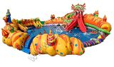 Powerful Durable PVC Children Inflatable Pool with Slide, Water Park Playground D2037