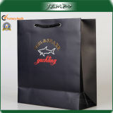 Black Color Fashion High Quality Advertised Art Paper Bag