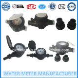 Black Plastic Body Dn15mm Multi Jet Water Meter Dry Type