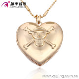 Heart Shape Exquisite Skull Gold Plating Pendant Jewelry