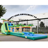 Jungle World Theme Inflatable Water Slide for Water Games