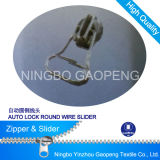 Round Wire Pull Slider for Clothing/Garment/Shoes/Bag/Case