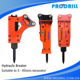 Hydraulic Excavator Concrete Rock Road Breaker Hammer with Chisel
