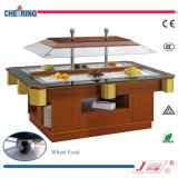 Wooden and Marble Luxury 2-Channel Salad Bar