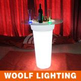 Wf-4895 Plastic LED Flower Pot/ Outdoor Plastic Furniture/Round High Flower Pot