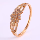 New Xuping Fashion 18k Gold-Plated Luxury Flower Zircon Bangle