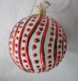 Red Color Christmas Glass Ball