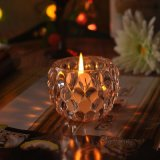 Flower Patterned Crystal Candle Holders