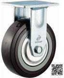 4/5/6/8 Inch Heavy Duty Black PU Fixed Castor Wheel Industrial PU Rigid Caster