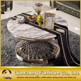 Classic Family Use Round Stainless Steel Coffee Table