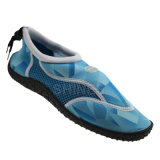 Line Print Men Beach Aqua Shoes