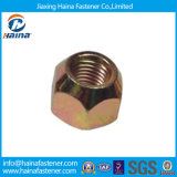 Yellow Zinc Plated Hexagon/Hex Lock Wheel Nuts for Auto