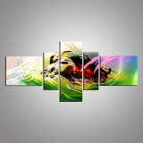 Abstract Design with Handmade Aluminum Painting, 3D Metal Wall Art