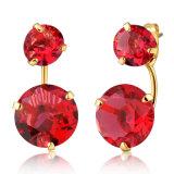 Detachable Ruby Zircon Custom Jewelry Earring Stud