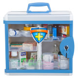 Clear Colorful Portable Metal First Aid Box for Medicine Storage
