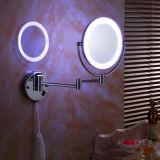 Make up Adjustable Wall Mount Mirror Round with LED Light