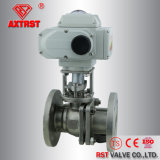 Floating Electric Actuated Stainless Steel 2PC Flanged Ball Valve