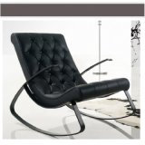 Nordic Style Modren Simple Rocking Leather Chair