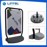 Wholesale Double Sided Black Aluminum Poster Stand