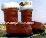 Huge Inflatable Brown Shoes with Snacks for Advertising