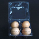PVC Clear 4 Eggs Blister Packaging Box